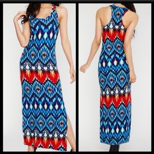 Body con colorful maxi dress